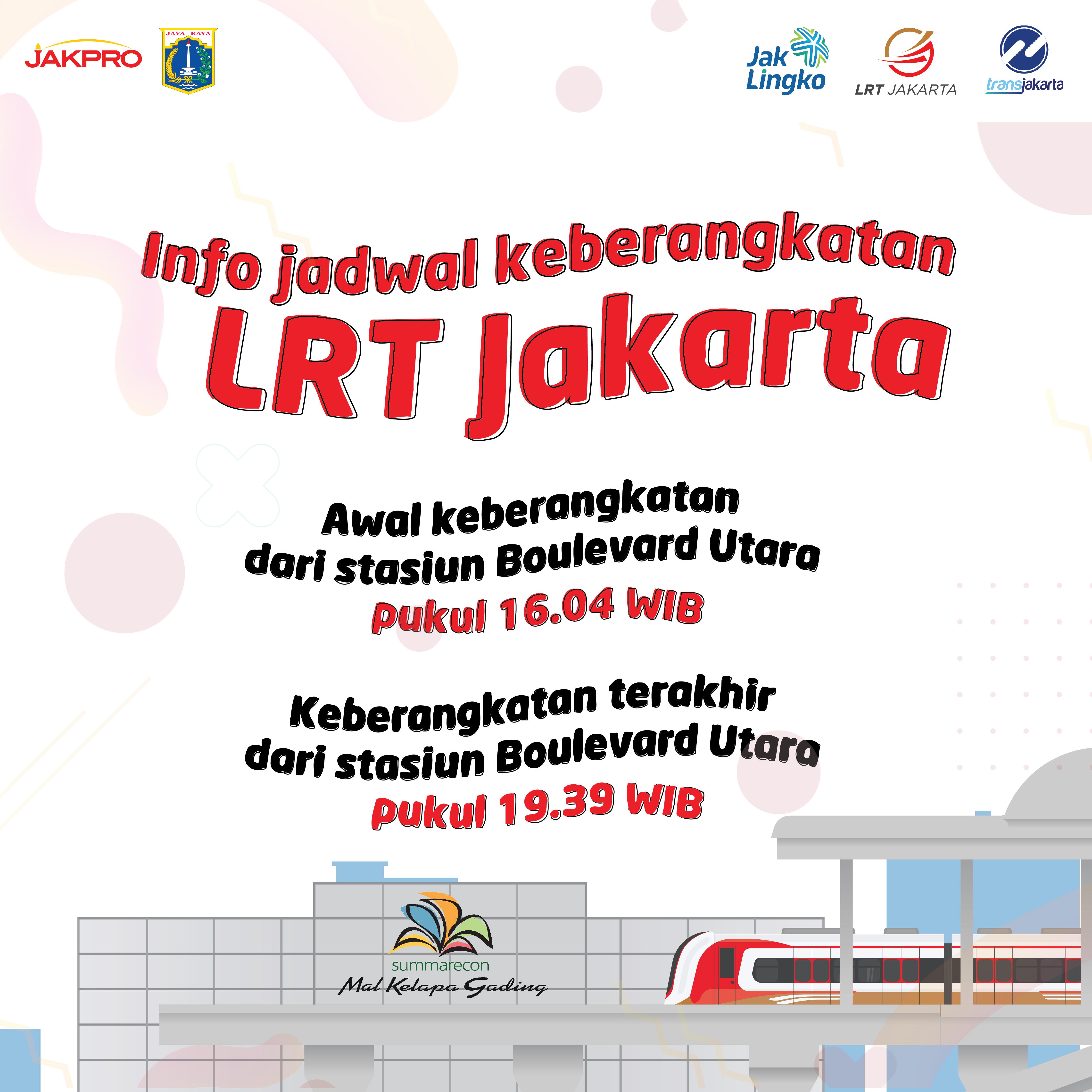 Info Keberangkatan LRTJ