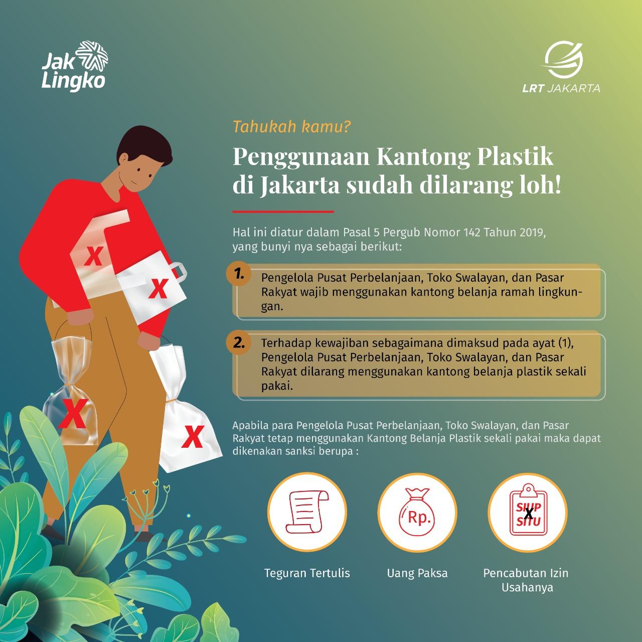 Tahukah Kamu? Penggunaan Kantong Plastik di Jakarta sudah dilarang loh!