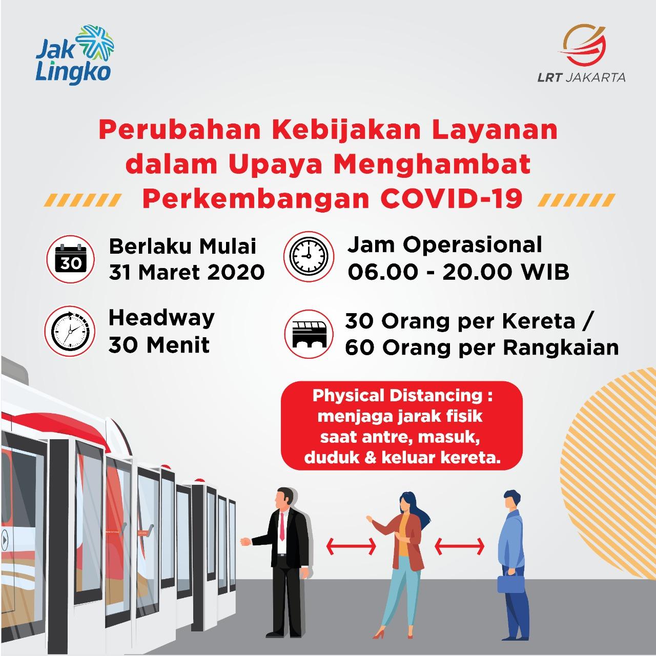 Pembatasan Layanan Operasional LRT Jakarta